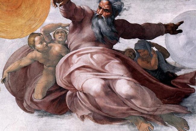 Michelangelo's depiction of God in the Sistine Chapel (Credit: Creative Commons)