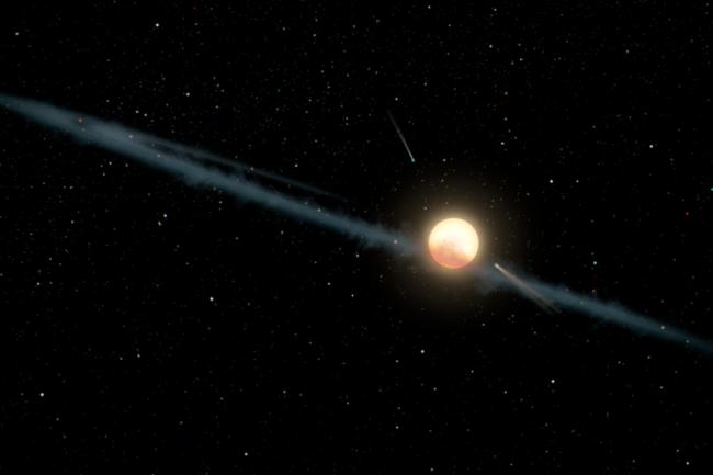 Dust Orbiting Tabby's Star NASA JPL