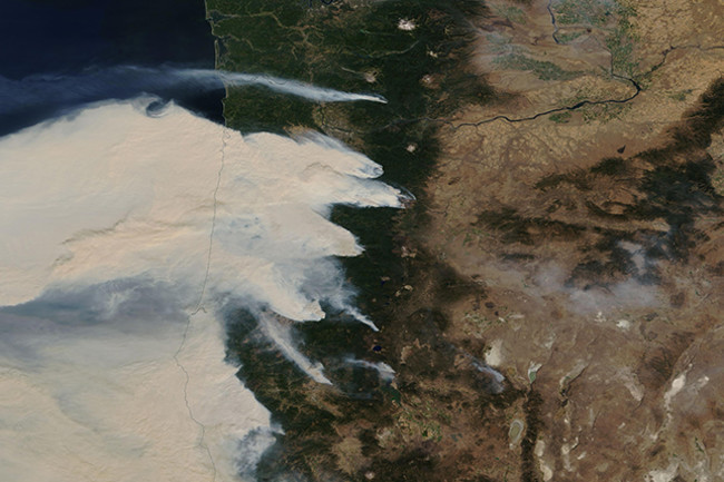 Oregon and California Wildfires in 2020