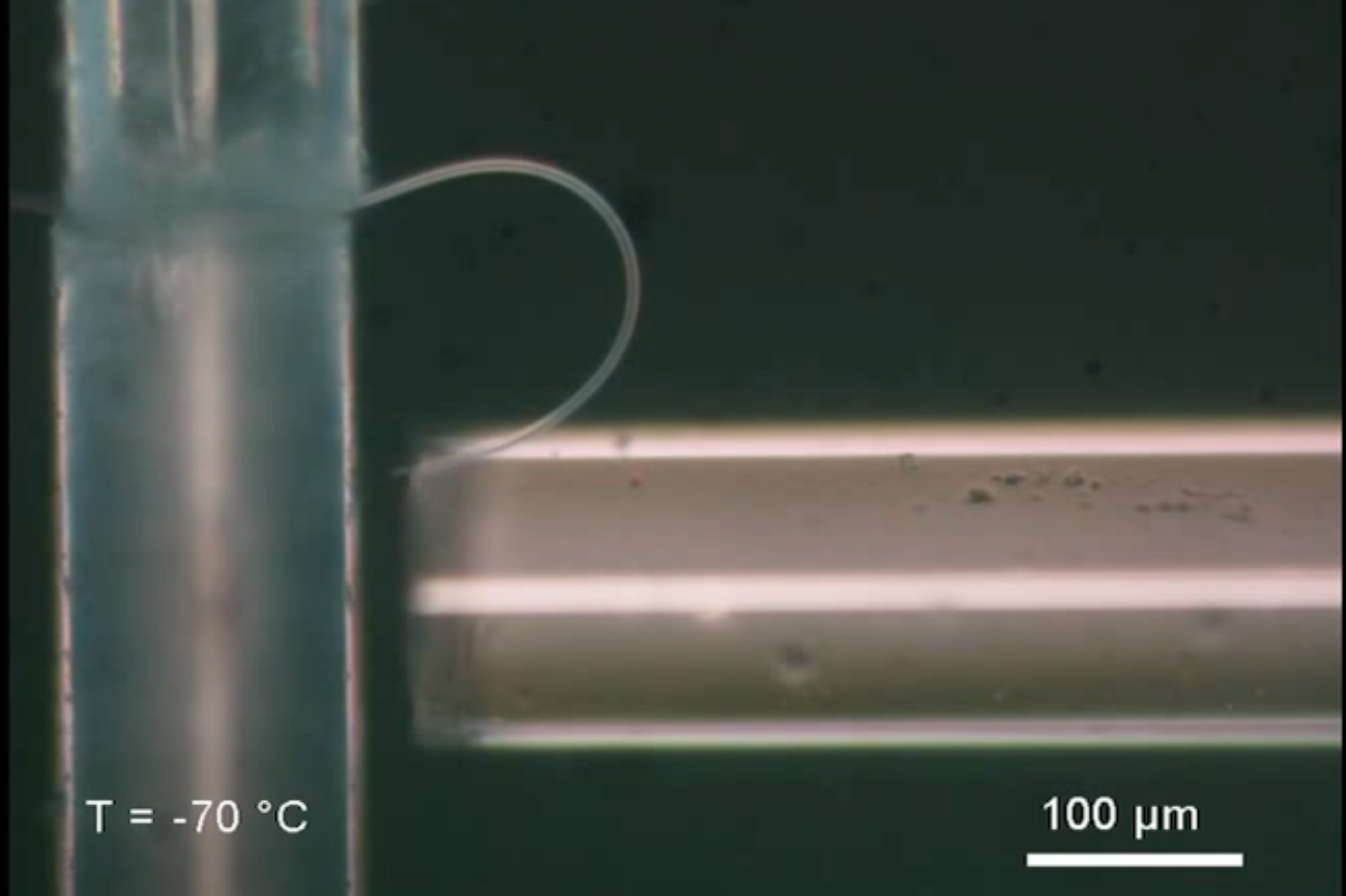 A bendable ice capable of transmitting information has also been created