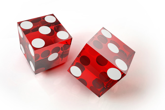 Two Red Dice - Science Photo Library