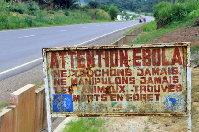 Ebola Congo sign shutterstock