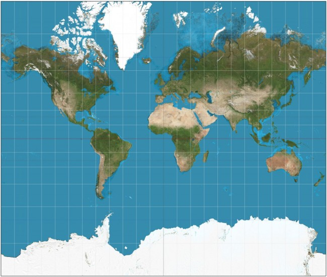 World Map, Mercator Projection - Wikimedia