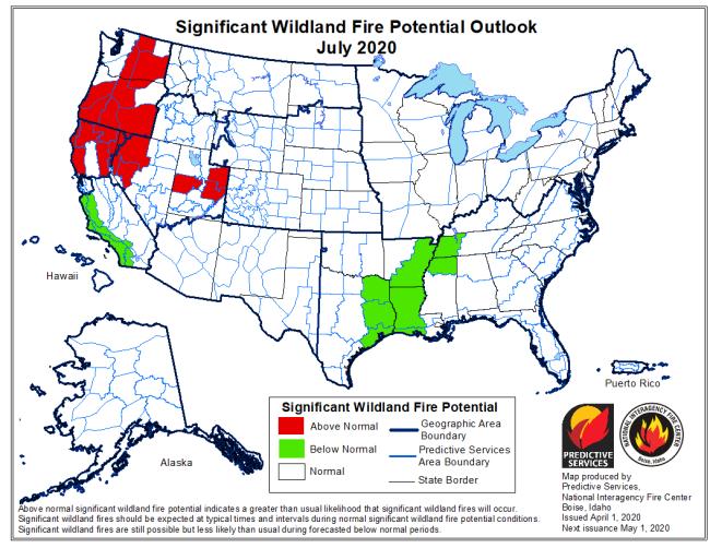July 2020 fire outlook