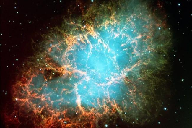 Supernova SN 1054, the Crab Nebula