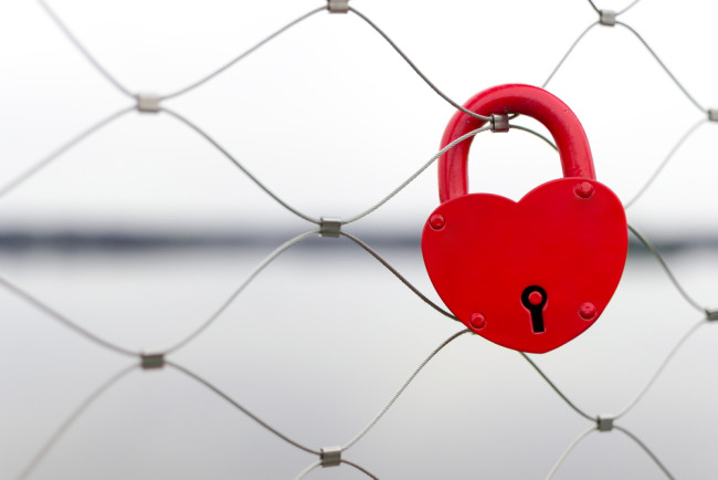 Heart Padlock on Fence, Love - Shutterstock