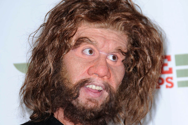"""Geico's """"so easy a caveman can do it"""" advertising campaign incorrectly minimized the intelligence of Neanderthals. (Credit: Shutterstock)"""