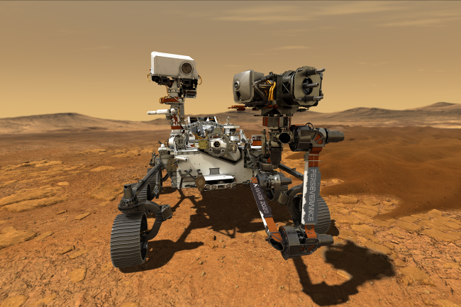Perseverance Rover on Mars -- artist's impression  (Credit: NASA/JPL-Caltech)