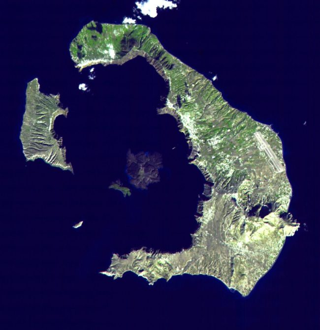 Santorini, Greece Caldera - NASA