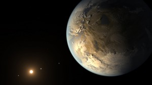 Kepler-186f was the first Earth-sized planet discovered in the all-important habitable zone — a range of distance from a star where liquid water can pool on a planet's surface. (Credit: NASA)