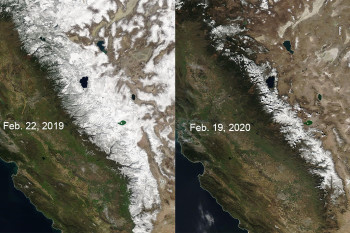 California's Snowpack Shrivels, Raising Fears of Future Wildfires