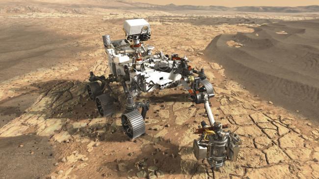 Mars 2020 rover illustration