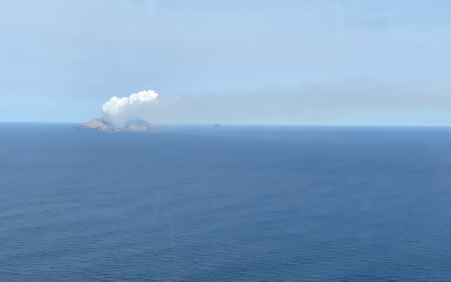 Plume from White Island