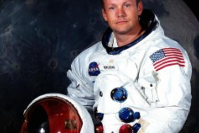 Neil Armstrong's official portrait. NASA