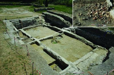Archaeological Dig at the Ancient Site of Lattara, in France