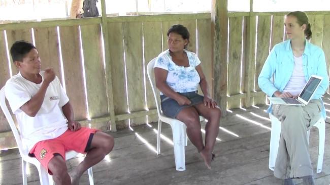 Maijuna Community Members Signing - Grace Neveu