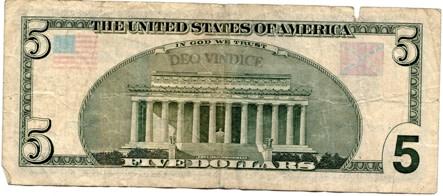 five dollar bill confederate