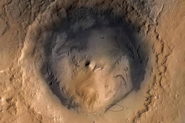 MarsGaleCraterLake