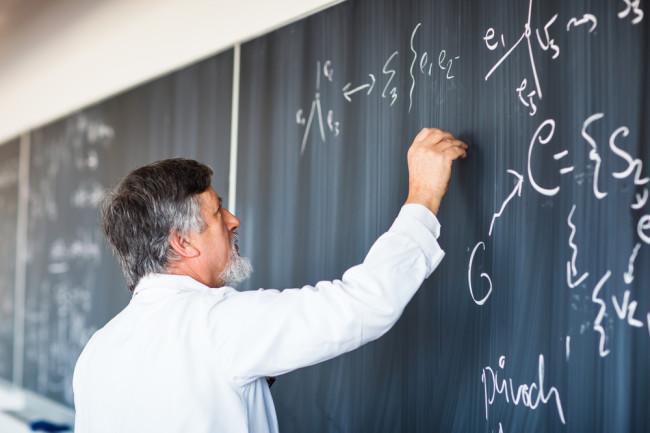 Scientist-at-Chalkboard