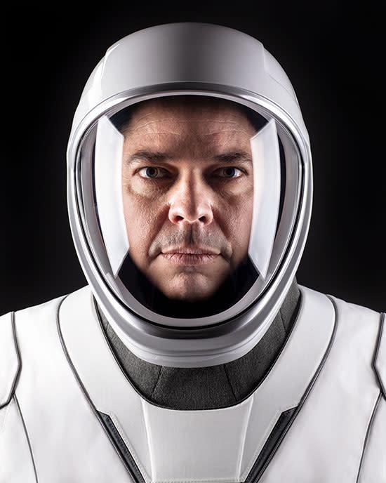 Robert (Bob) Behnken showing off his fancy new suit (Credit: NASA)