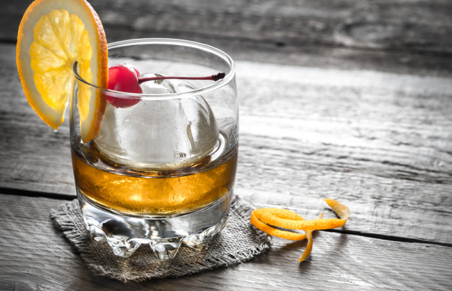 Old Fashioned, Whiskey, Ice Sphere - Shutterstock