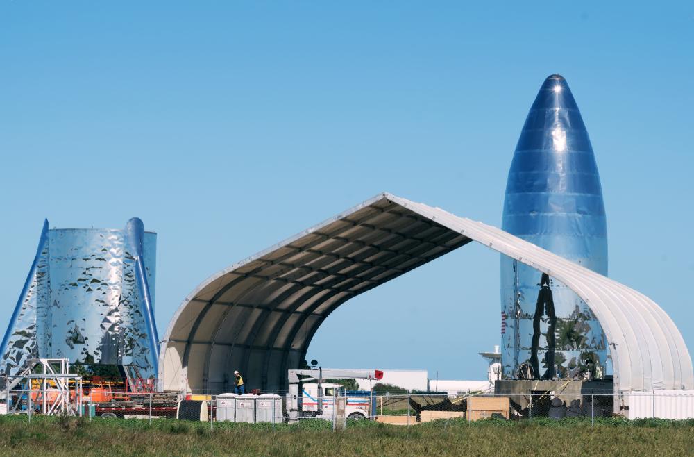 Construcción del puerto espacial