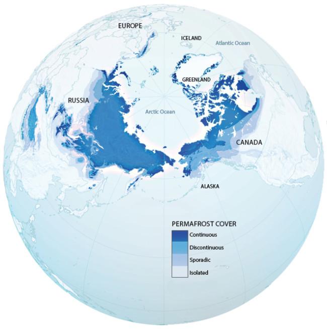 Permafrost Map - NASA