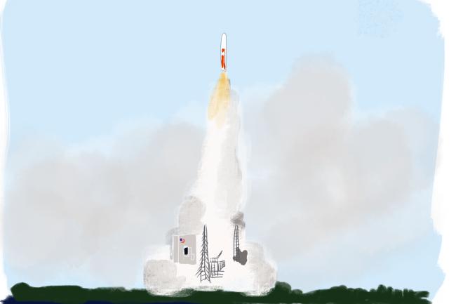 rocket upright