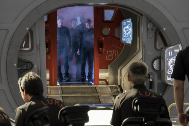 In the first episode of season 2, Scientists at IMSF's outpost on the Red Planet brace for the arrival of a new set of colonists—miners commissioned by Lukrum, a for-profit corporation. The IMSF crew goes to meet the Lukrum crew. (photo credit: National Geographic/Dusan Martincek)