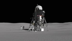Lockheed Martin's massive lunar lander design can fit a maximum of four astronauts.