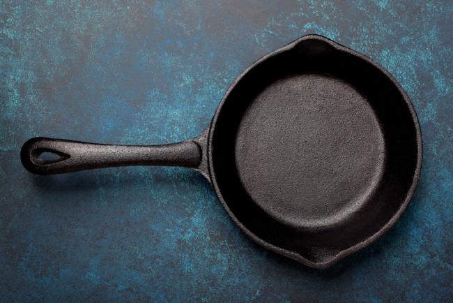cast iron pan - shutterstock 630689069
