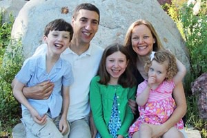 Bryan Mazlish and Sarah Kimball with their children