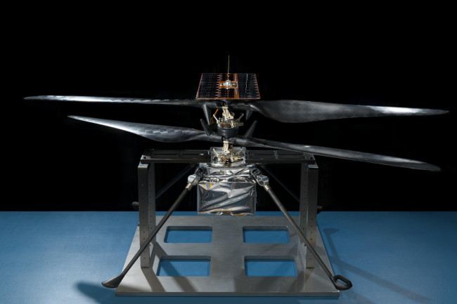 Flight model of the Mars Helicopter went through a battery of engineering tests to prove it could survive space travel and take off in simulated Mars conditions. (Credit: NASA/JPL-Caltech)
