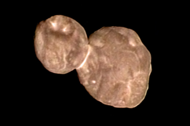 Ultima Thule looks red to the human eye
