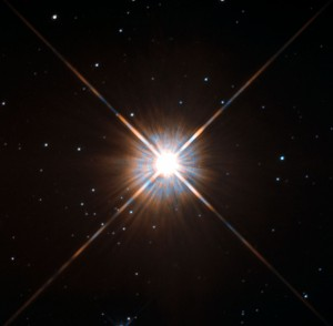 Proxima Centauri is our closest star at just over four light years from Earth. (Credit: ESA/Hubble & NASA)