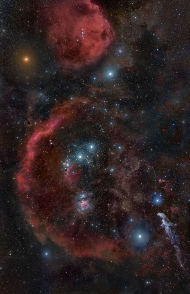 Constellation Orion and Orion Molecular Cloud Complex