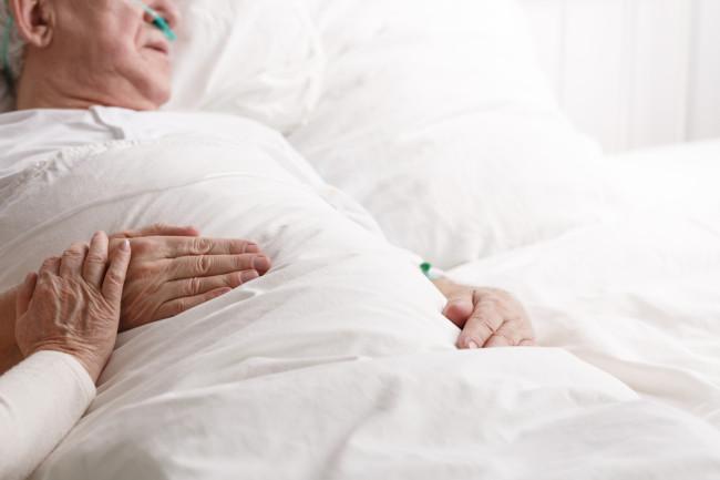 old man senior hospital death dying elderly - shutterstock