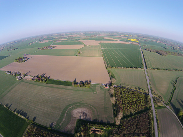 Fields on the island of Lolland, Denmark.