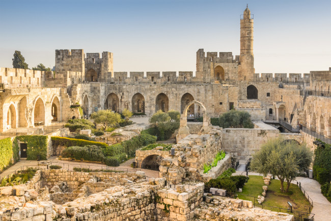 Ancient City Jerusalem, Israel at the Tower of David - Shutterstock