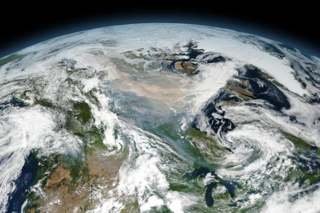 Wildfire Smoke over Canada - NASA