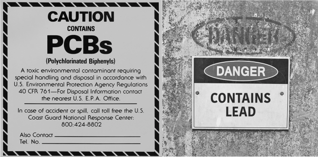 Lead and PCB warnings