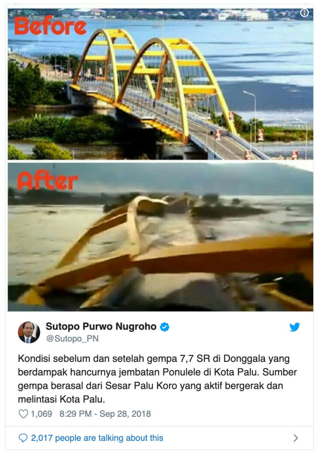 Violent Tsunami Strikes Palu In Indonesia Discover Magazine