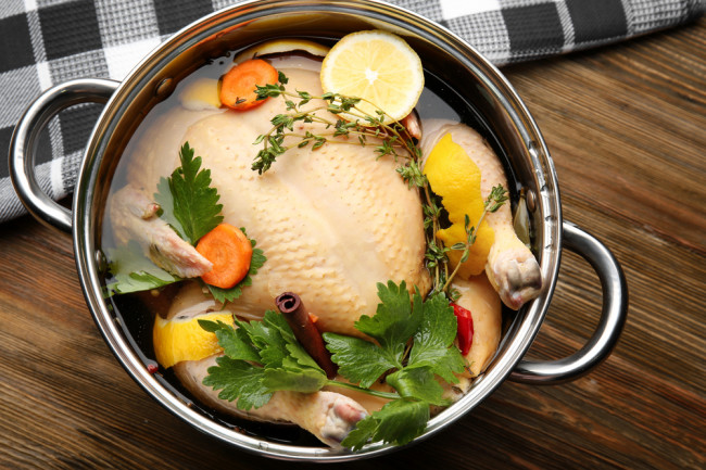Brining a turkey - shutterstock