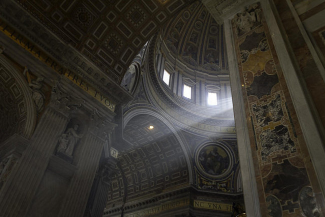 A beam of light inside St. Peter's Basilica, Vatican City. (Image: Flickr/Mzximvs VdB)