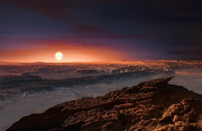 Proxima Centauri, the nearest star, has an Earth-size planet. Remote sensing will tell us if it is habitable, but getting this kind of view of it will be possible only by physically going there. (Credit: ESO/M. Kornmesser)
