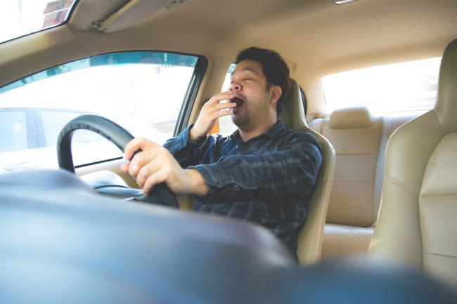 Yawn Tired Driving - Shutterstock