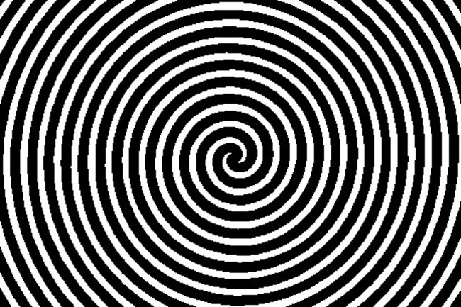 Black and White Spiral, Mind Control Hypnotism - Shutterstock