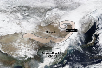 Views From Space Show Deadly Dust Storm Smothering a Vast Area of Asia