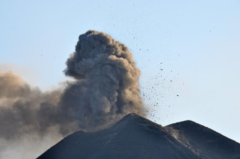 Lava bombs and ash from the 2013 eruption of Veniaminof. AVO/USGS.