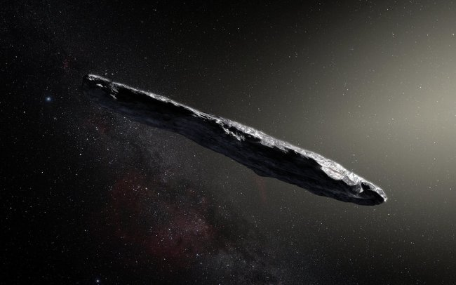 This widely reproduced illustration of 'Oumuamua is a huge artistic extrapolation from meager observational data. (Credit: ESO/M. Kornmesser)